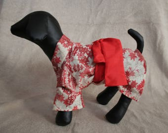 Free shipping:maple KIMONO for pets made from real kimonos