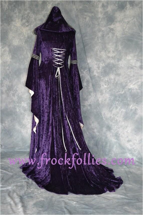 Vestido medieval vestido gótico Renacimiento vestido vestido
