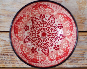 Red bowl, pottery bowl, red cup, decorative bowl, ceramic bowl, handmade bowl, red pottery, handmade pottery, stoneware bowl, ceramic bowl