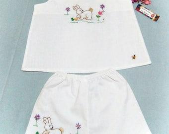 Girl clothing set hand embroidered, handmade embroidery, girl clothing set