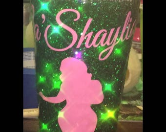 Personalized Glitter Coffee Cup Tumbler