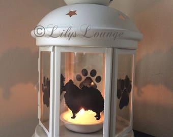 Pomeranian Dog Candle Lantern