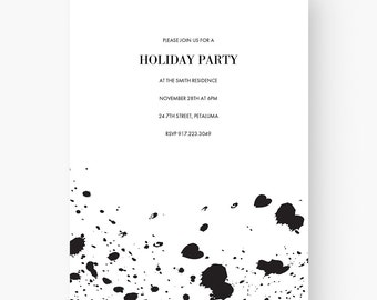 Modern invitation etsy modern invitation download modern invitation template modern invitation ideas black and white engagement party birthday party stopboris Image collections