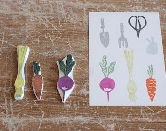 "Rubber Stamps ""vegetables""-conf. 3 pcs."