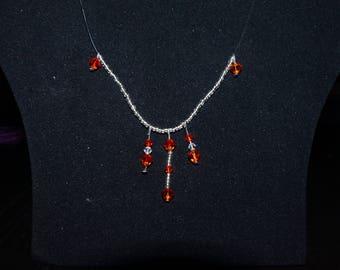 Orange swarovski necklace