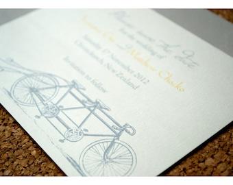 Save the Date Tandem Bike Design