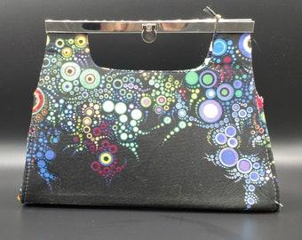 Falling bubbles clutch purse