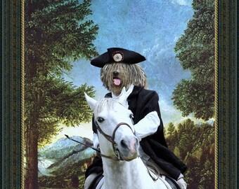 Bergamasco Art - CANVAS  Print - Fine Artwork - Dog Portrait -  Dog Painting - Dog Art - Dog Print – Custom Dog Art