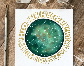 Celestial Watercolor // moon language