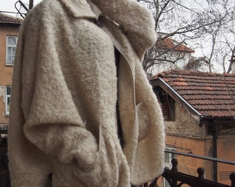 Wool Knitted Coat Plus Size Cardigan Wool Poncho & Nara KP005