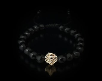 Onyx and Lion Handmade bracelet