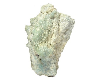 Rare Gibbsite Blue Green and Sky Blue Natural Crystalline Botryoidal Mineral Specimen mined in China,  Aluminum Ore