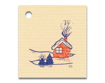 HOME IN WINTER ~ Hang Tags, Price Tags & Strings Included - Size: Small, Vendors Welcome