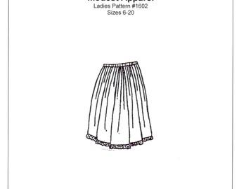 Ladies Petticoat / Half Slip Sewing Pattern - by The King's Daughters - #1602