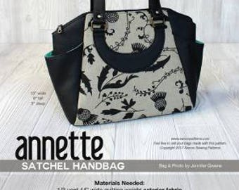 Swoon Annette Satchel Handbag Sewing Pattern