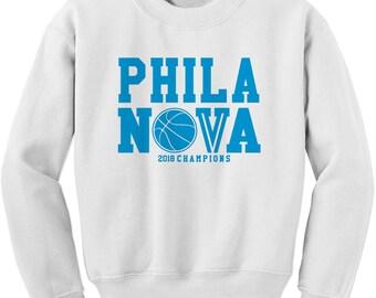 Crewneck Phila Nova 2018 Champions Long Sleeve Nova Nation PA Sweatshirt #1359
