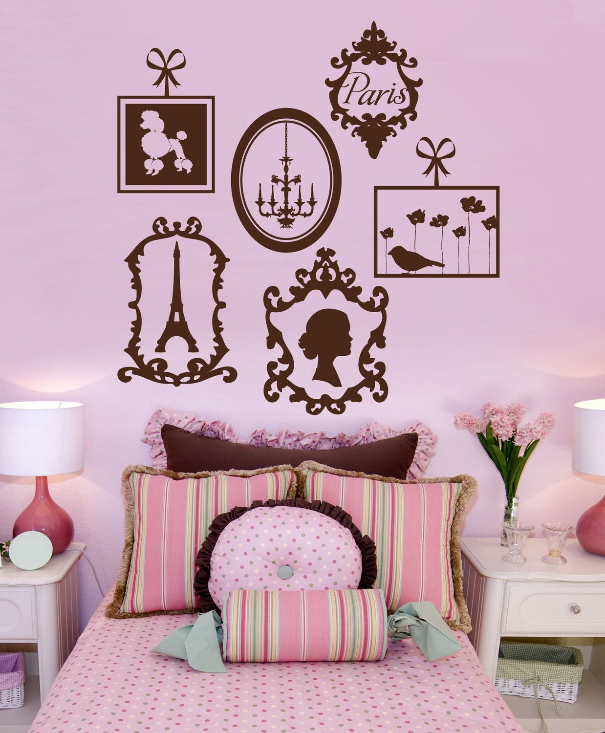 Exceptionnel Description. Pairs Inspired Wall Decals ...