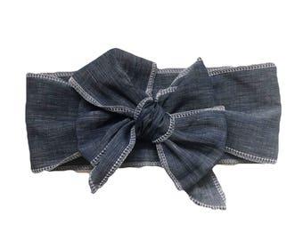 Dark Denim Head Wrap
