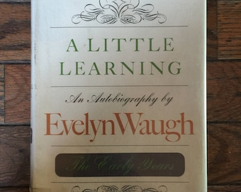 1964 First Edition A Little Learning Evelyn Waugh Book