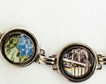 Brooklyn Bridge Glass Dome Bracelet captures the Spirit of New York!