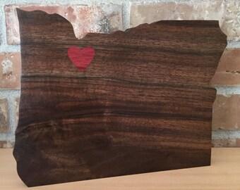 Black Walnut Oregon with Bloodwood Inlay