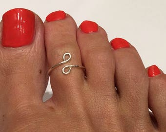 SILVER PLATED toe ring/  Toe Ring/Foot Jewelry/Toe rings/Gold toe ring/Silver toe ring/Adjustable toe ring/(Non Tarnish)