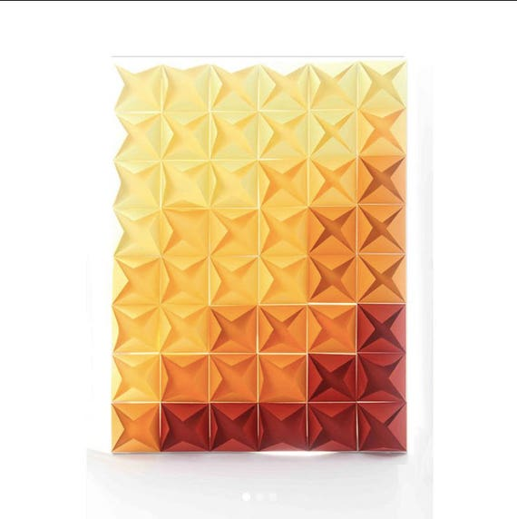 3D Paper Canvas Abstract Art Home Decor Wall Art Origami