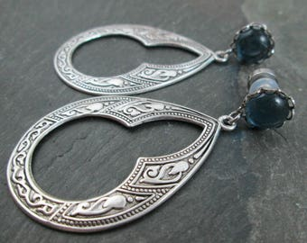 Dangle Plugs - 8g 3mm - Tribal Gauges - Gothic Plugs - Gothic Jewelry - Plug Earrings - Wedding Gauges