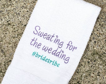 Bride Tribe Sweat Towel, Gym Towel, Embroidered Hand Towel, Fitness, Sweating for the Weddibv