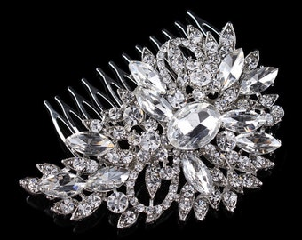 Silver comb, rhinestone comb,  rhinestone hair comb, hair comb, wedding comb,