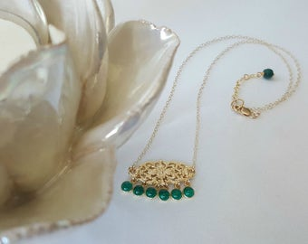 Green Chalcedony Necklace