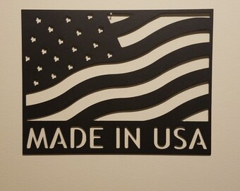 CNC Plasma Made In USA Metal Sign Powder Coated or Raw Steel