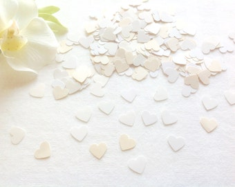 Paper Hearts White and Ivory Sprinkles Table Confetti Bridal Shower Sprinkles Wedding Table Party Supplies Table Confetti 300 Paper Hearts