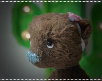 Viola, OOAK artist bear - girl - cute baby gift