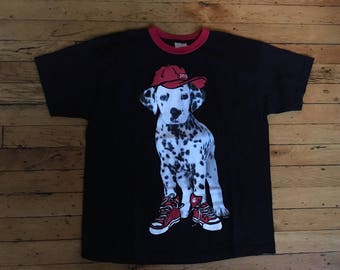 Vintage Disney 101 Dalmatians ringer t shirt