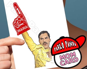 Funny Mother Day | Freddie Mercury | Mothers Day Card Queen  Bohemian Rhapsody For Mom Mothers Day Gift Mothers Day Funny Mothers Day Unique