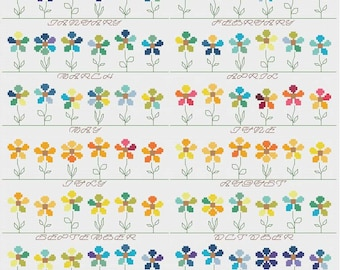 Temperature Garden cross stitch pattern PDF - INSTANT DOWNLOAD