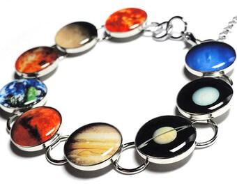 Planets Bracelet, Space Bracelet, Planet Jewelry, Handmade Jewelry, Resin Jewelry, Planets, Space Jewelry, Solar System, Planet Jewelry