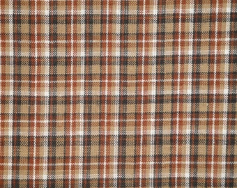 Plaid Homespun Material | Primitive Material | Cotton Sewing Material | Rag Quilt Material | Doll Making Material | Home Decor Material
