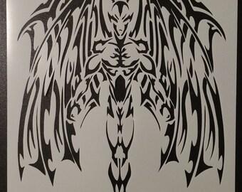 Winged Devil Wings Demon Wing Custom Stencil FAST FREE SHIPPING
