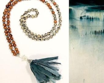 Lila Traditional Mala Necklace