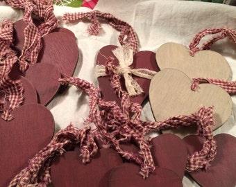 Misc Heart Wooden Ornaments