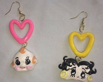Custom Character Heart Earring