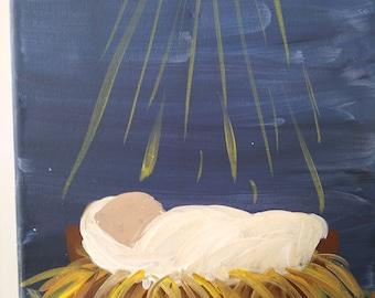 Hand-painted Baby Jesus