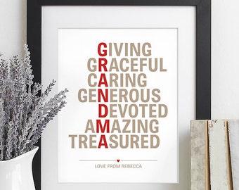 Gift for Grandma, Grandma Gift, Gift for Grandmother Gift for Grandparents Gift, Mothers Day Gift from Grandchildren Gift from Children Gift