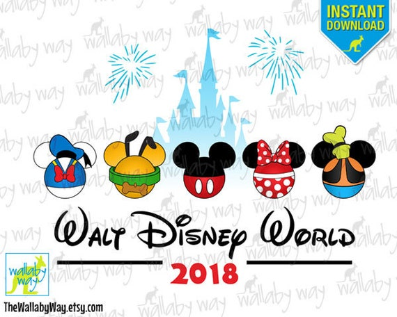 walt disney world printable iron on transfer or use as clip rh etsy com disney world clipart 2016 disney world clipart black and white