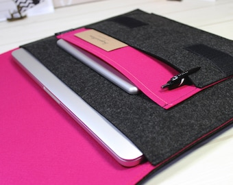 Macbook Air case, laptop sleeve, Macbook Pro sleeve, Macbook Pro case, laptop case, Macbook case, hot pink, Lenovo Yoga case, Pro Retina