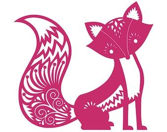 "Fox - Vinyl Decal Sticker - 11"" x 10"" Vixen Fennec Kit Tattoo Red Vulpes Arctic *Free Shipping*"