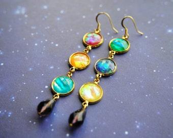 BACKORDER -- Infinity Gem Earrings -- Infinity Stone Inspired -- The Avengers -- Thanos -- Infinity Wars -- Fandom Fashion -- Nerdy -- Geeky