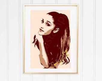 Ariana Printable Art with signature